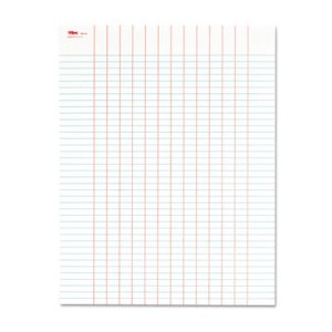 Tops Data Pad w/Plain Column Headings, 8-1/2 x 11, 50 Sheets/Pad (TOP3616)