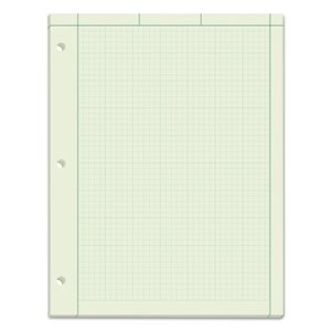 Tops Computation Pad, Quad Rule, Letter, Green, 100 Sheets/Pad (TOP35500)