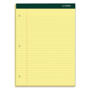 Tops Double Docket Ruled Pads, Legal, Canary, 6 100-Sheet Pads (TOP63387)