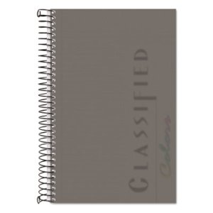 Notebook w/Graphite Cover, Narrow, 5-1/2 x 8-1/2, White, 100 Sheets (TOP73507)