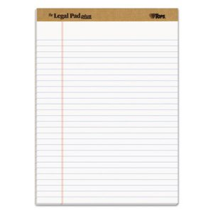 Tops The Legal Pad Plus Ruled Pads, 8 12 x 11 3/4, White, 12 per Pack (TOP71533)