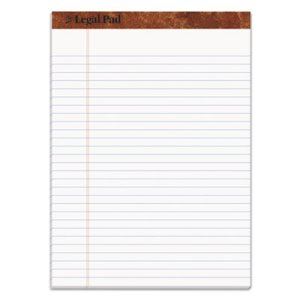 Tops Legal Pad, Legal Ruled, 8.5 x 11.75, White, 50 Sheets/Pad, Each (TOP75330)