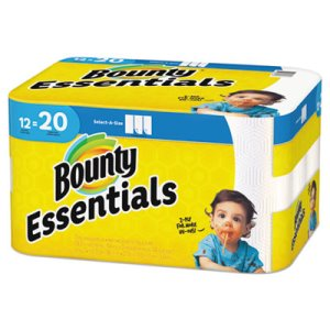 Bounty Essentials Select-A-Size Paper Towels, 2-Ply, 12 Rolls (PGC74647)