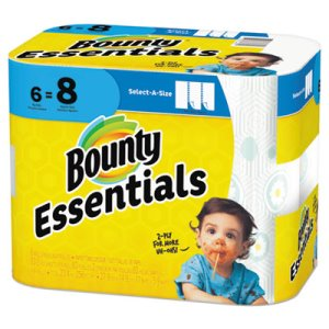 Bounty Essentials Select-A-Size Paper Towels, 6 Rolls (PGC74651)
