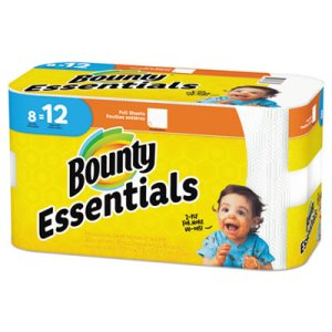Bounty Essentials 2-Ply Paper Towel Rolls, 8 Rolls (PGC74680)
