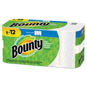 Bounty Select-a-Size Paper Towels, 2-Ply, White, 5.9 x 11, 8 Rolls (PGC90963)