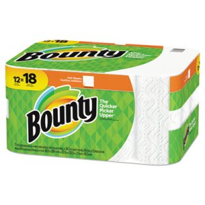 Bounty Kitchen 2-Ply Paper Towel Rolls, White,  12 Rolls (PGC74796)
