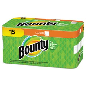 Bounty Full-Sheet White Paper Towels, 2-Ply, 36 Sheets/Roll, 15 Rolls (PGC74844)