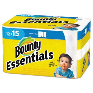 Bounty Essentials Select-A-Size Paper Towels, 2-Ply, 12 Rolls (PGC75720)