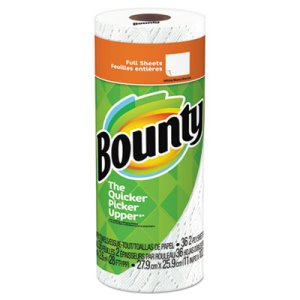 "Bounty Paper Towels, 36 Sheets per Roll, 10.2"" x 11"", White, Each (PGC76230RL)"
