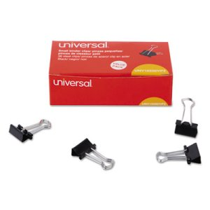 "Universal Small Binder Clips, 3/8"" Capacity, 36 Clips (UNV10200VP3)"