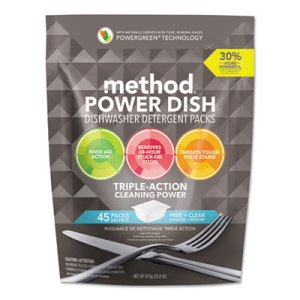 Method Power Dish Detergent Tabs, Fragrance-Free, 270 Tabs (MTH01760CT)