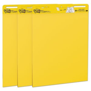 "Post-it Easel Pads Self-Stick Easel Pads 25""x30"", 25 Shts, 3 Pads (MMM559YW3PK)"
