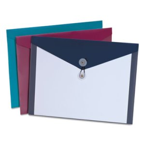 Pendaflex Pocket Poly Booklet Envelope, 11 x 9 1/2, 4/Pack (PFX90016)