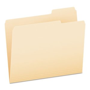 Pendaflex File Folders, 1/3 Cut Tab, Third Position, 100 Folders (PFX752133)