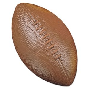 Champion Coated Foam Sport Ball, For Football, Playground Size, Brown (CSIFFC)