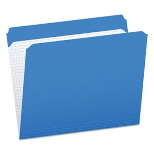 Pendaflex Two-Ply File Folders, Straight Top Tab, Blue, 100 per Box (PFXR152BLU)