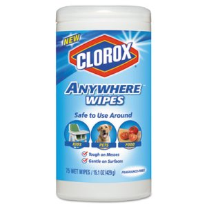 Clorox Disinfecting Wipes, 7 x 8, Fragrance-Free, 75 Wipes/Canister, 6/Carton (CLO31837)