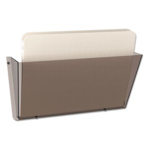 Deflect-O Docupocket Single Pocket Wall File, Letter, Smoke, Each (DEF63202)