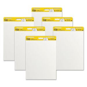 Post-it Self-Stick Easel Pads, 25 x 30, White, 6 30-Sheet Pads/CT (MMM559VAD6PK)