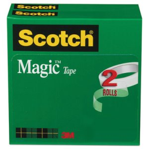 "Scotch Magic Tape, 3/4"" x 2592"", 3"" Core, 2 Rolls (MMM8102P3472)"