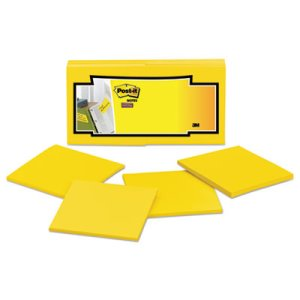 Post-it Notes Full Adhesive Notes, 3 x 3, Yellow, 12 Pads (MMMF33012SSY)