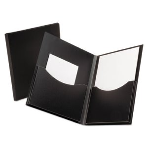 Oxford 2-Pocket Polypropylene Folder, 200-Sheet Capacity Black (OXF57454)