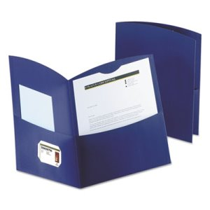 Oxford 2-Pocket Recycled Paper Folder, 100-Sheet Capacity, Blue (OXF5062523)