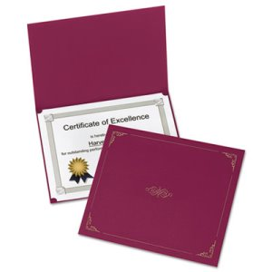 Oxford Certificate Holder, 12-1/2 x 9-3/4, Burgundy, 5/Pack (OXF29900585BGD)