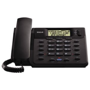 Rca VISYS Corded 2-Line Speakerphone With Caller ID, Black (RCA25201RE1)