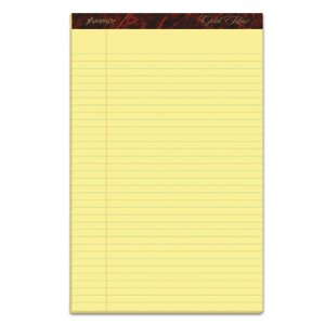 Ampad Legal Pads, Legal Ruled, 8.5 x 14, Canary, 50/Pad, 12 Pads (TOP20030)