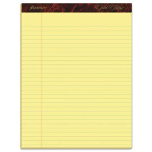 Ampad Legal Pads, Legal Ruled, 8.5 x 11.75, Canary, 50/Pad, 12 Pads (TOP20020)