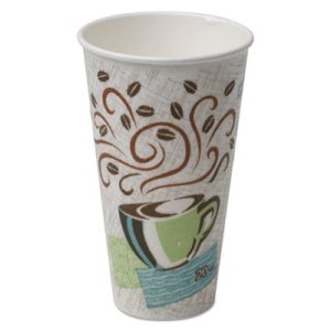 Dixie Hot Cups, Paper, 20oz, Coffee Dreams Design, 500 Cups (DXE5320CD)
