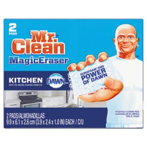 Mr. Clean 47546 Magic Eraser Kitchen Scrubber with Dawn, 24 Pads (PGC47546CT)