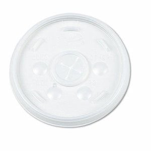 Dart Plastic Lids, for 16-oz. Hot/Cold Foam Cups, 1000 per Carton (DCC16SL)