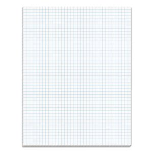 Tops Quadrille Pads, 4 Squares/inc, 8-1/2 x 11, White, 50 Sheets/Pad (TOP33041)