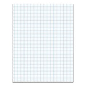 Tops Quadrille Pads, 5 Squares/inch, 8-1/2 x 11, White, 50 Sheets/Pad (TOP33051)