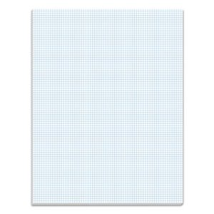 Tops Quadrille Pads, 8 Squares/inch, 8-1/2 x 11, White, 50 Sheets/Pad (TOP33081)