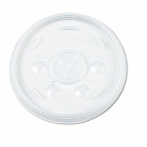 Dart Plastic Lids, for 32oz Hot/Cold Foam Cups, Straw Slotted Lid, WE (DCC32SL)