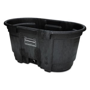 Rubbermaid Commercial Stock Tank, 100 gal, Structural Foam, Black (RCP424288BLA)