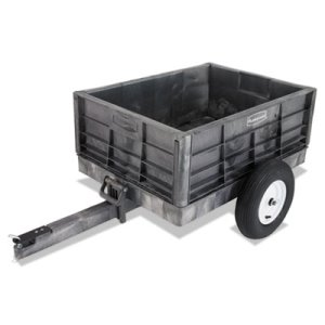 "Rubbermaid Commercial Tractor Cart, 28.8"" x 40.8"" x 12.5"", Black, (RCP566261BLA)"