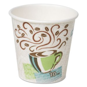 Dixie Hot Cups, Paper, 10 oz., Coffee Dreams Design, 500/Carton (DXE5310DX)