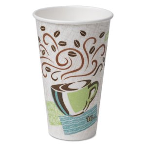 Dixie Paper 16 oz. Hot Cups, Coffee Dreams Design, 50 Cups (DXE5356CD)