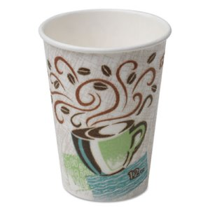 Dixie Hot Cups, Paper, 12oz, Coffee Dreams Design, 1000/Carton (DXE5342CD)