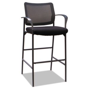 Alera IV Series Guest Stool, Supports 275 lbs, Black, 2 Stools (ALEIV4614A)