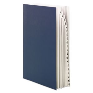 Smead Deluxe Expandable Desk File, 1-20/A-Z Index, Legal, Navy Blue (SMD89237)