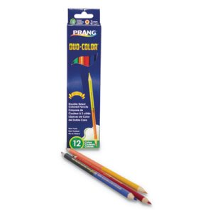 Prang Duo-Color Colored Pencil Sets, 3 mm, 12 Assorted Lead, 6/pack (DIX22106)