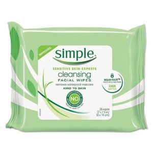 Simple Eye And Skin Care, Facial Wet Wipes, 25/Pack (UNI70005PK)