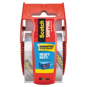 Scotch Clear Heavy Duty Packaging Tape in Sure Start Dispenser (MMM142)