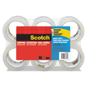 "Scotch Heavy Duty Tape Refills, 1.88"" x 54.6 yds, 3"" Core, 6 per Pack (MMM38506)"